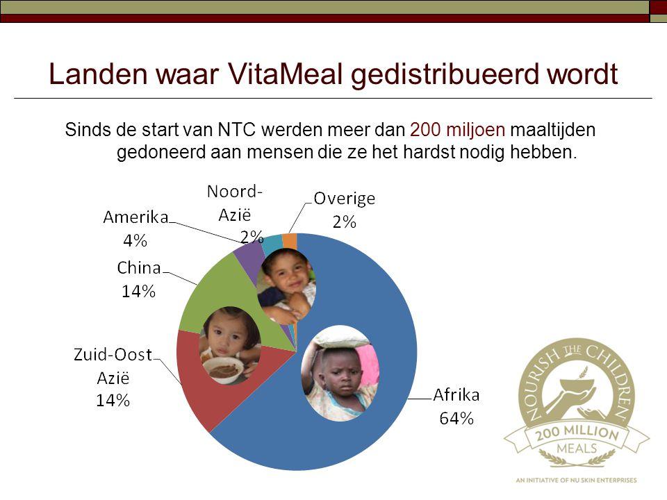 Landen waar VitaMeal gedistribueerd wordt
