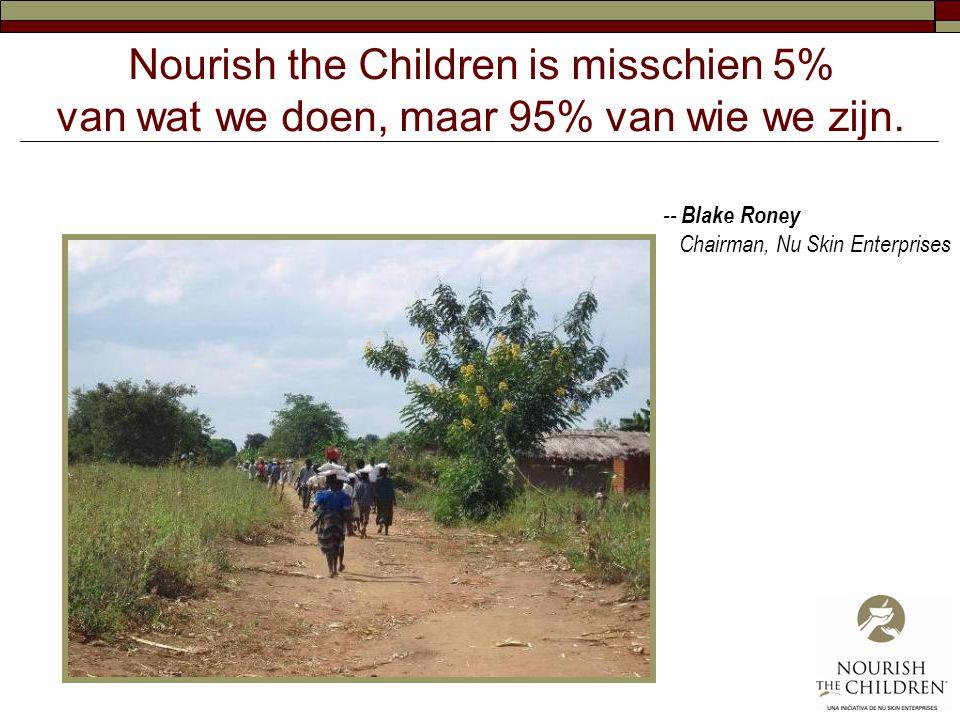 Nourish the Children is misschien 5% van wat we doen, maar 95% van wie we zijn.