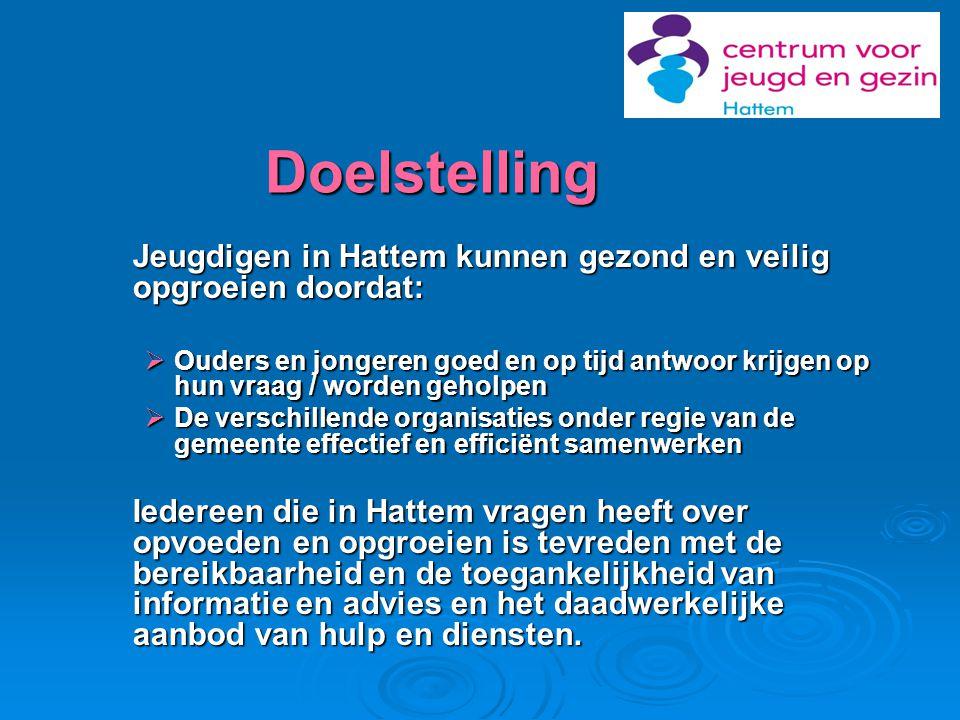 Doelstelling Jeugdigen in Hattem kunnen gezond en veilig opgroeien doordat: