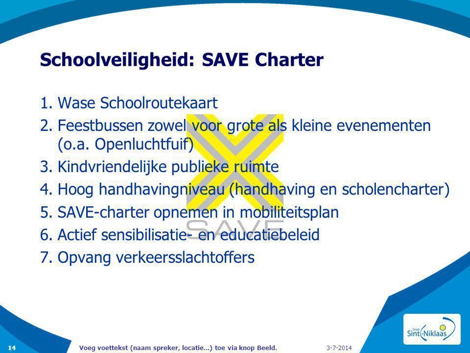 Schoolveiligheid: SAVE Charter