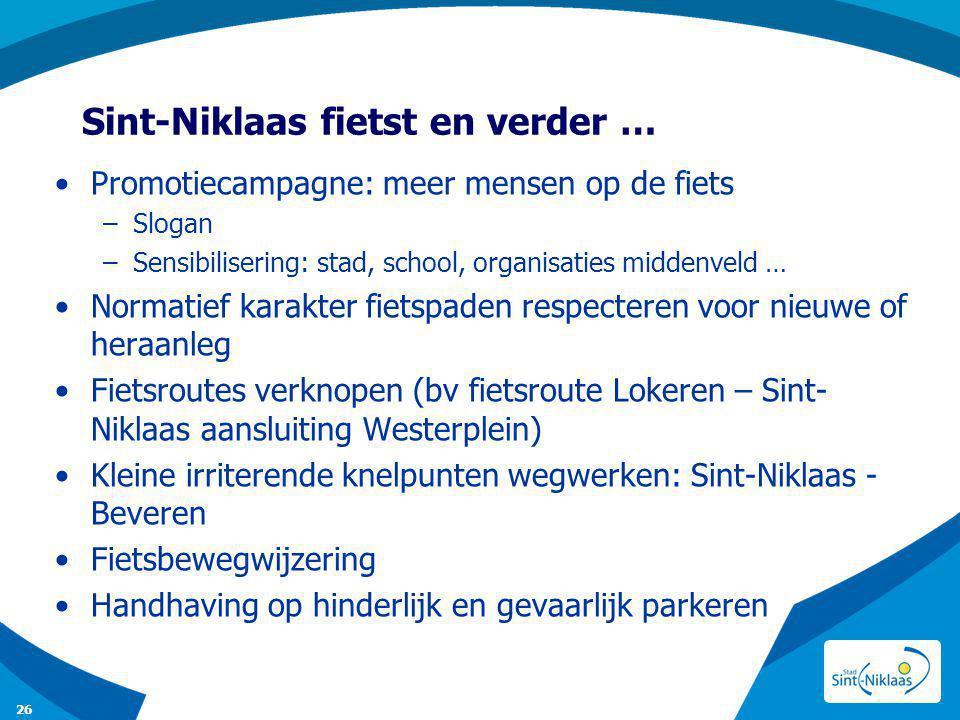 Sint-Niklaas fietst en verder …