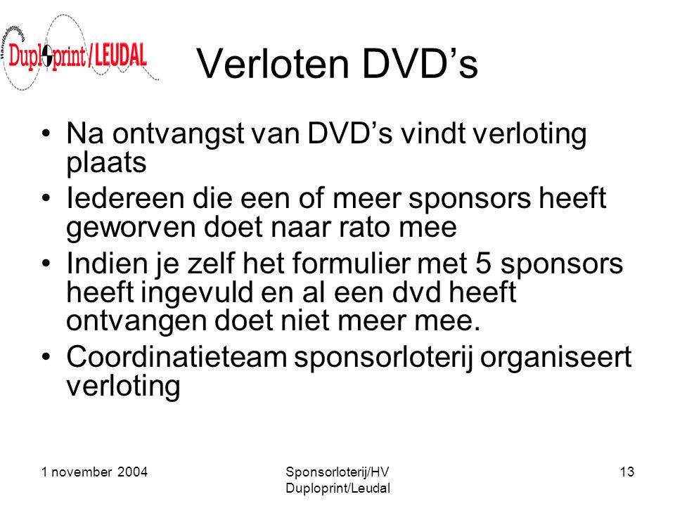 Sponsorloterij/HV Duploprint/Leudal