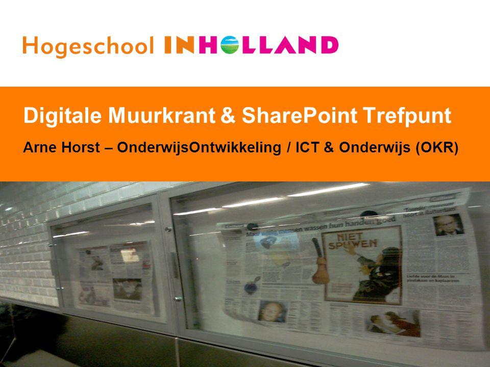 Digitale Muurkrant & SharePoint Trefpunt