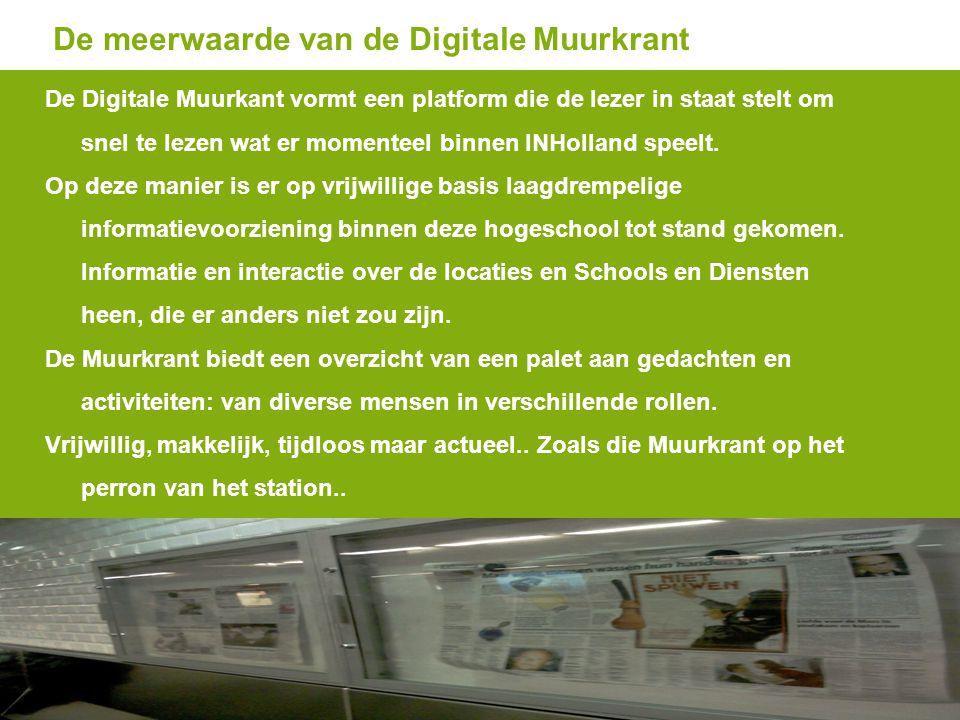 De meerwaarde van de Digitale Muurkrant