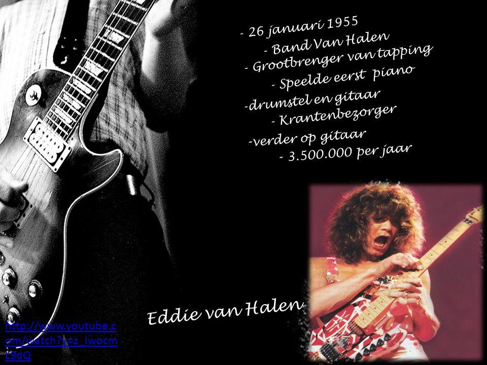 Eddie van Halen -verder op gitaar - 3.500.000 per jaar
