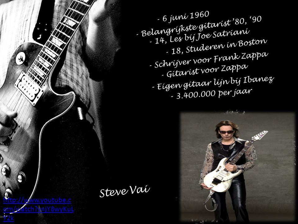 Steve Vai - Eigen gitaar lijn bij Ibanez - 3.400.000 per jaar