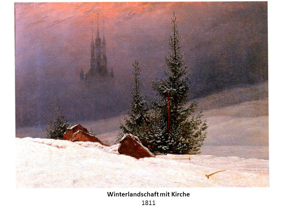 Winterlandschaft mit Kirche 1811