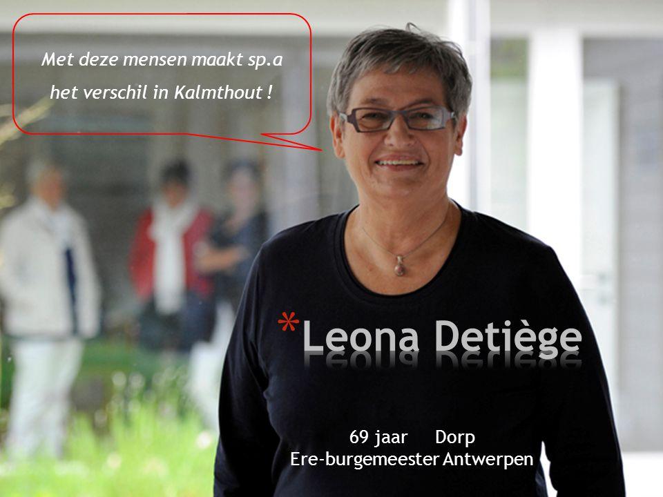 Leona Detiège Met deze mensen maakt sp.a het verschil in Kalmthout !