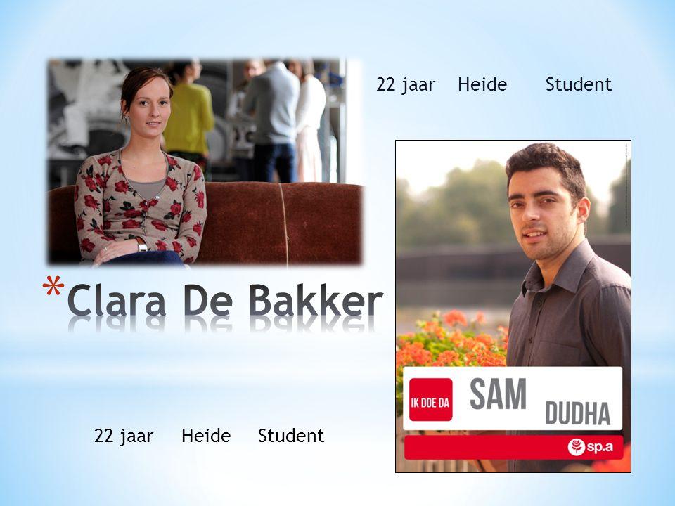 22 jaar Heide Student Clara De Bakker 22 jaar Heide Student