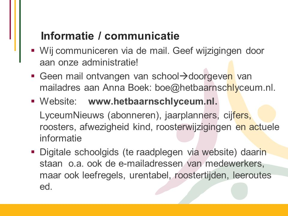 Informatie / communicatie