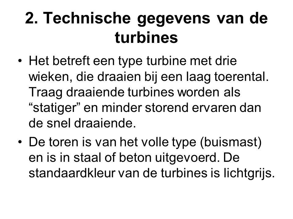 2. Technische gegevens van de turbines