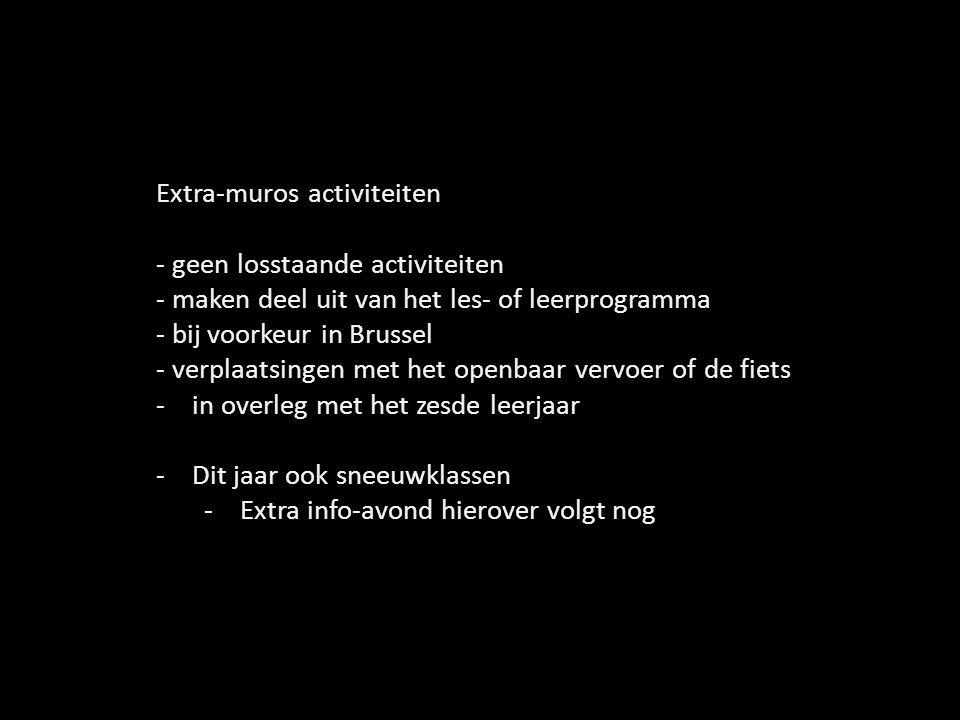 Extra-muros activiteiten - geen losstaande activiteiten