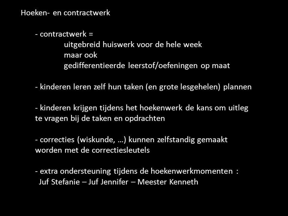 Hoeken- en contractwerk - contractwerk =