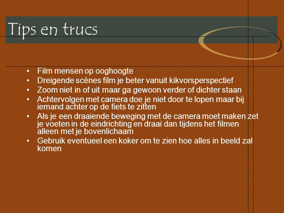Tips en trucs Film mensen op ooghoogte
