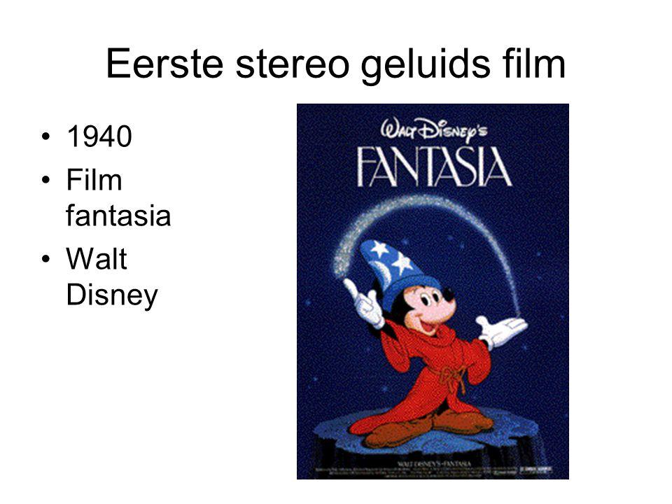 Eerste stereo geluids film