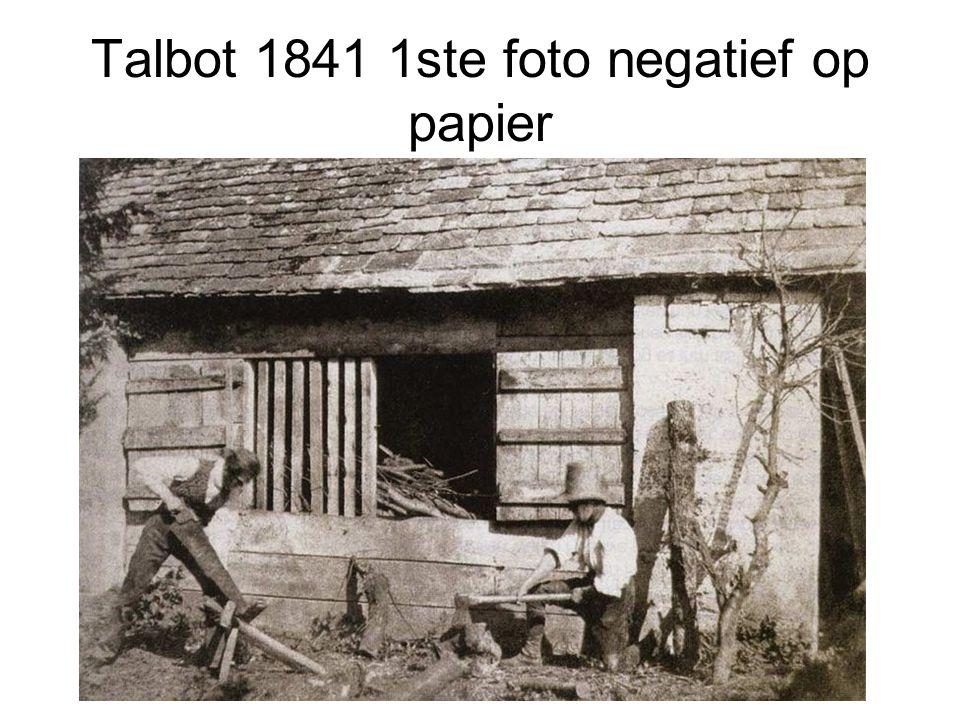 Talbot 1841 1ste foto negatief op papier