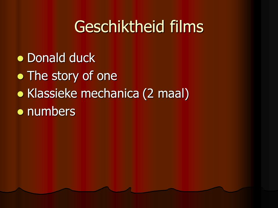 Geschiktheid films Donald duck The story of one