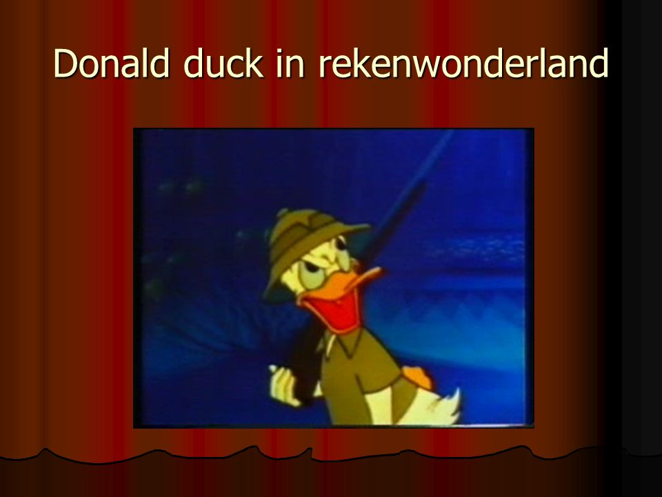 Donald duck in rekenwonderland