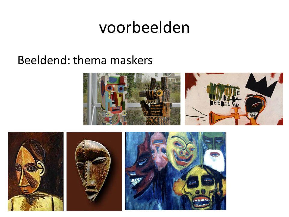 voorbeelden Beeldend: thema maskers