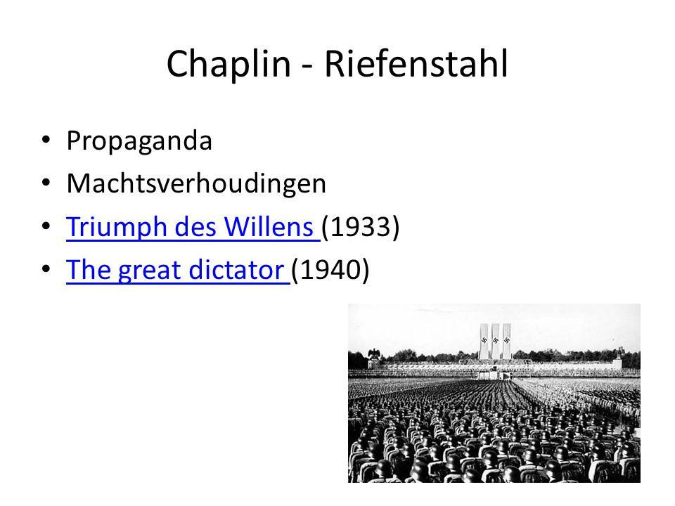 Chaplin - Riefenstahl Propaganda Machtsverhoudingen