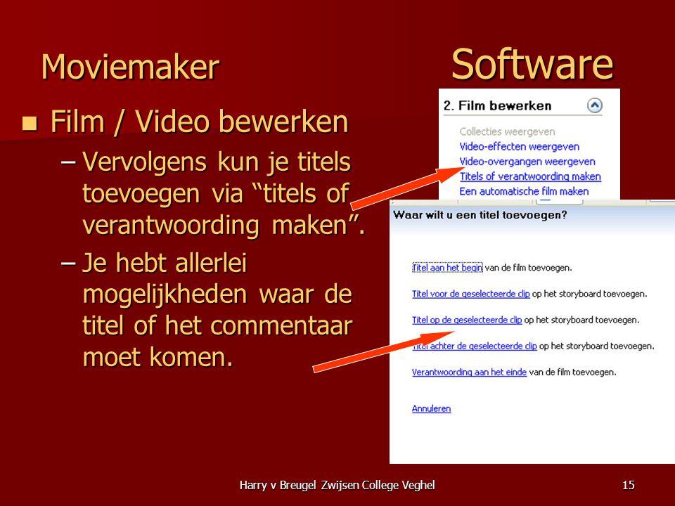 Harry v Breugel Zwijsen College Veghel