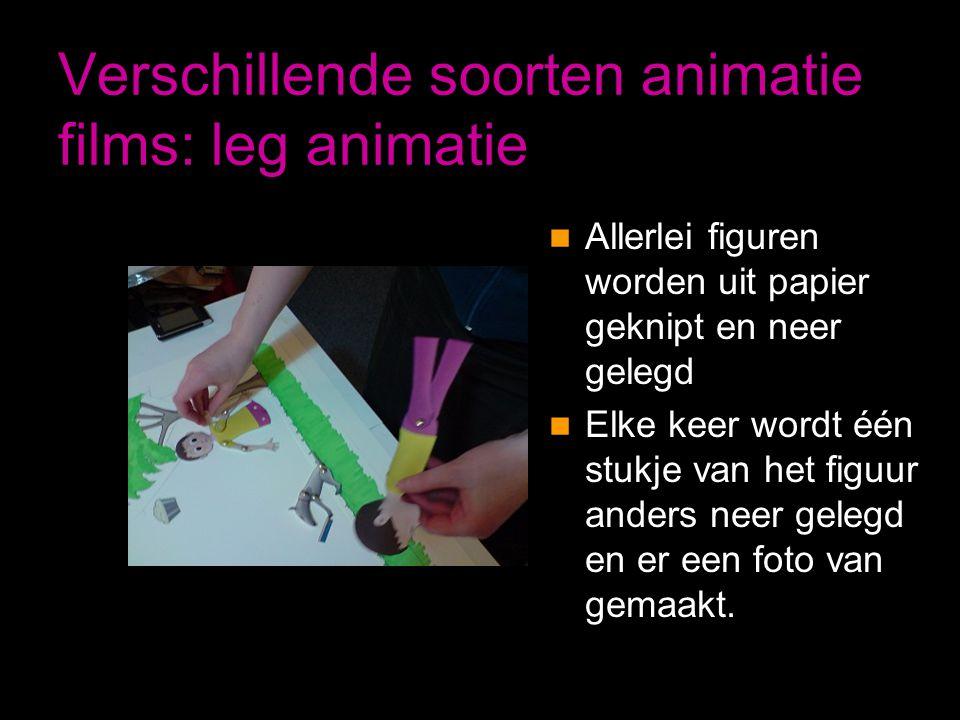 Verschillende soorten animatie films: leg animatie