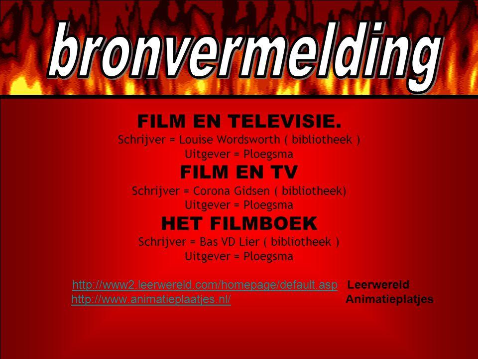 bronvermelding FILM EN TELEVISIE. FILM EN TV HET FILMBOEK