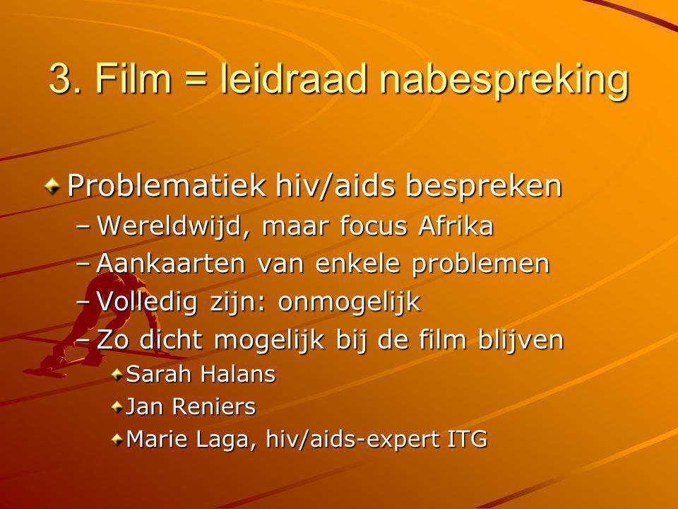 3. Film = leidraad nabespreking
