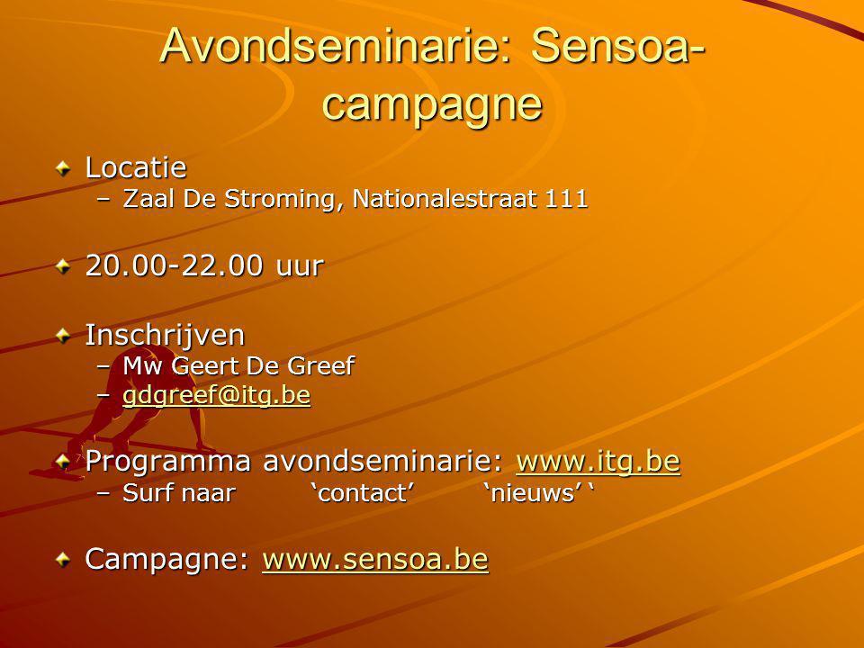 Avondseminarie: Sensoa-campagne