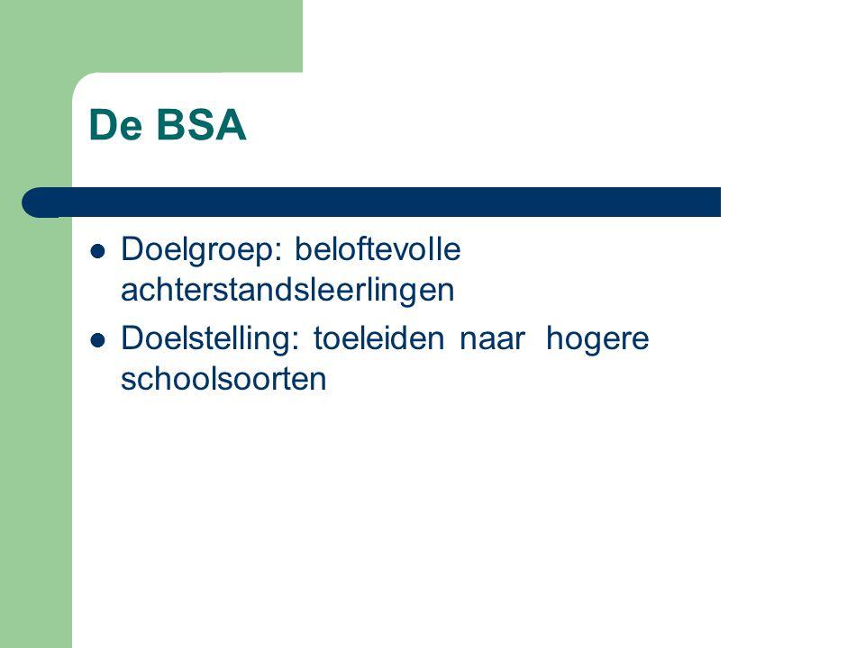 De BSA Doelgroep: beloftevolle achterstandsleerlingen