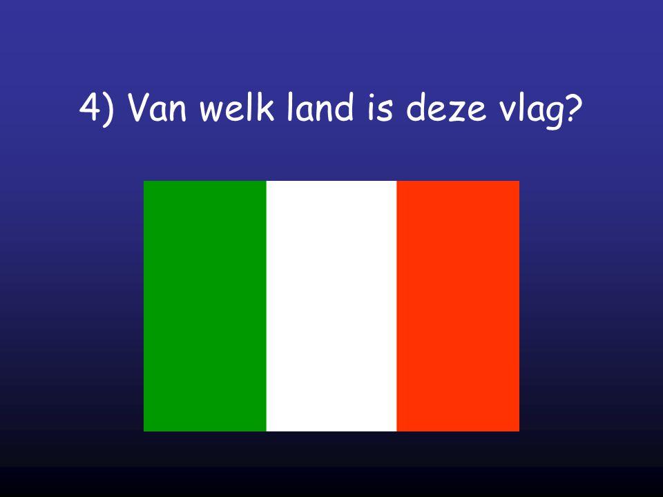 4) Van welk land is deze vlag