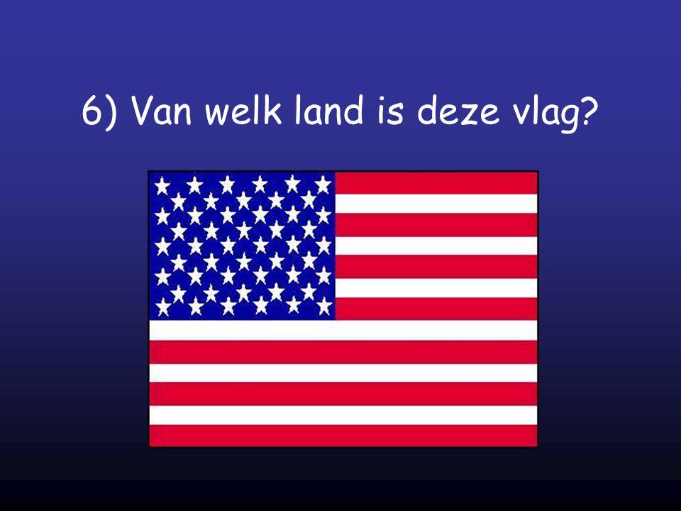 6) Van welk land is deze vlag