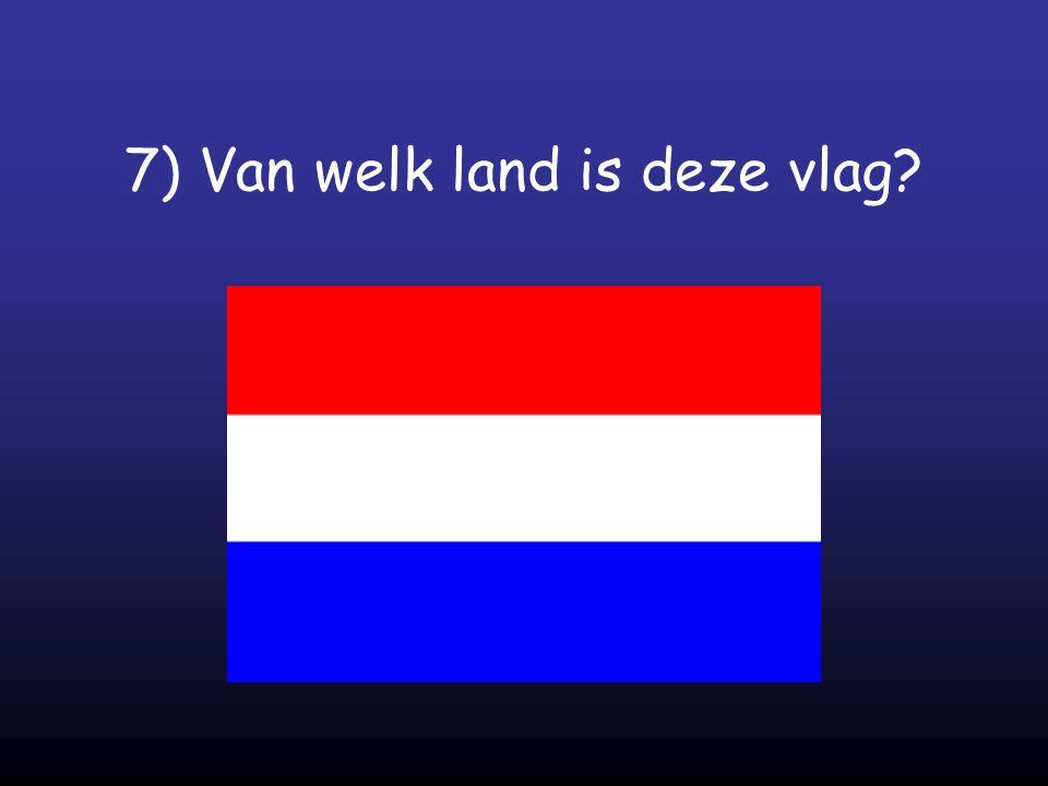 7) Van welk land is deze vlag