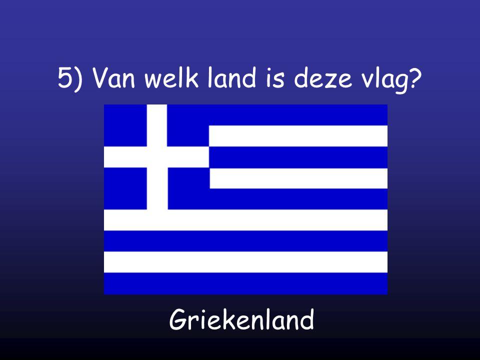 5) Van welk land is deze vlag