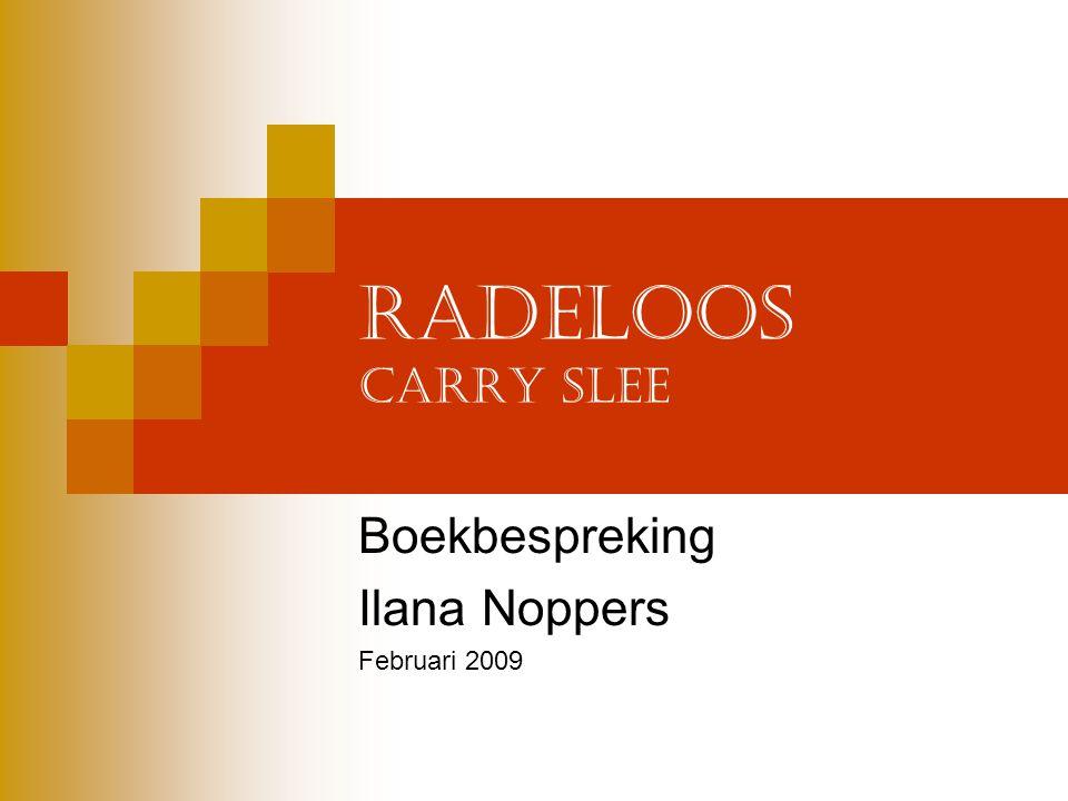 Boekbespreking Ilana Noppers Februari 2009