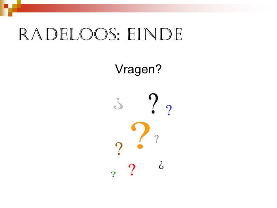 Radeloos: einde Vragen