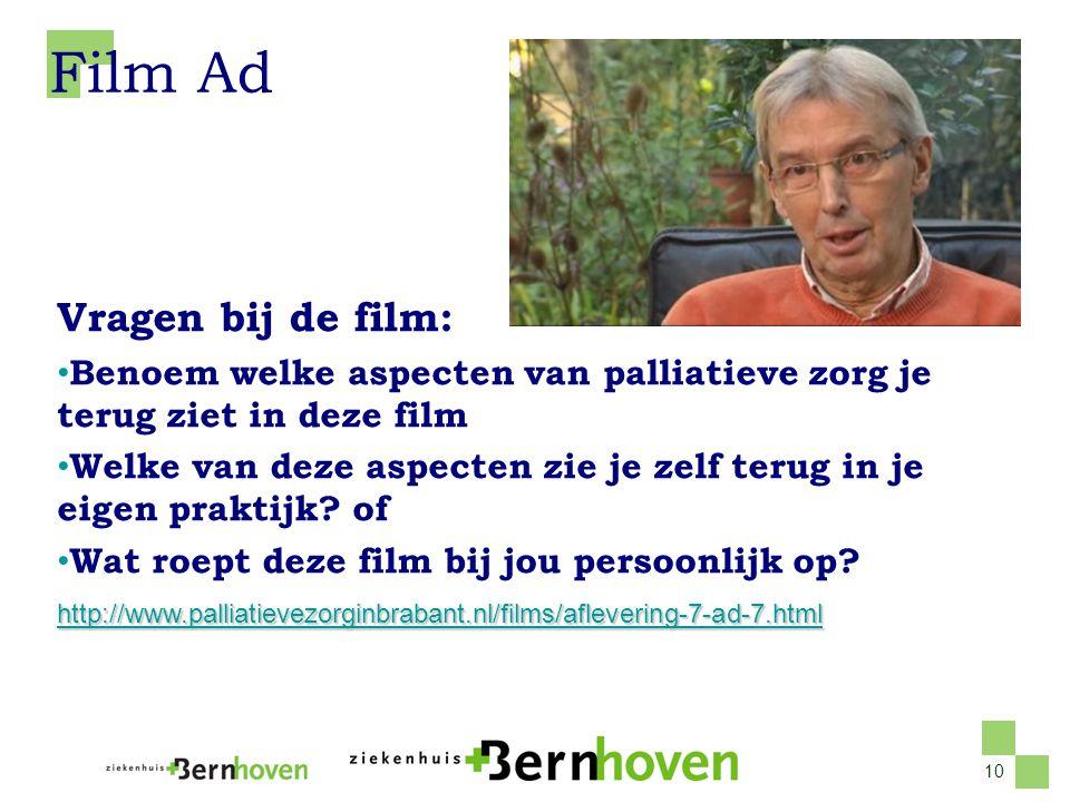 Film Ad Vragen bij de film: