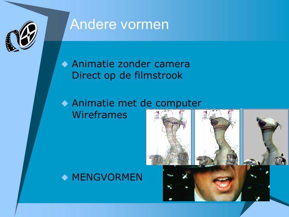 Andere vormen Animatie zonder camera Direct op de filmstrook