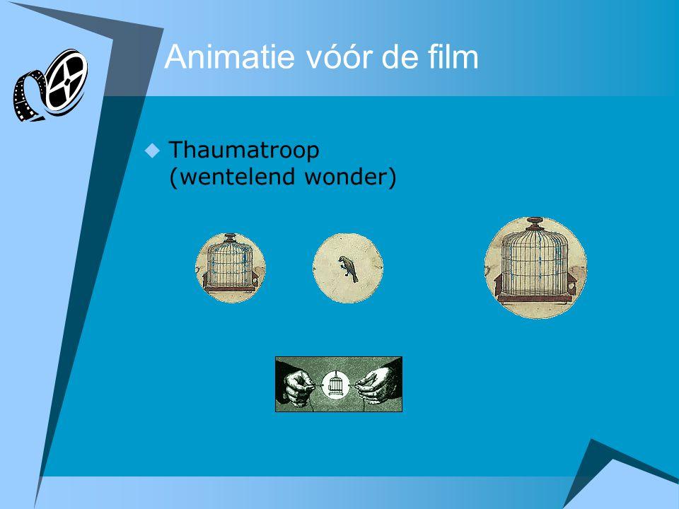 Animatie vóór de film Thaumatroop (wentelend wonder)