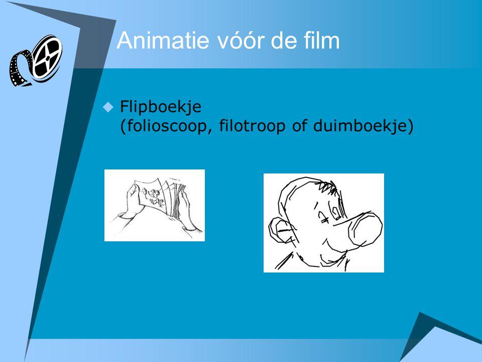 Animatie vóór de film Flipboekje (folioscoop, filotroop of duimboekje)