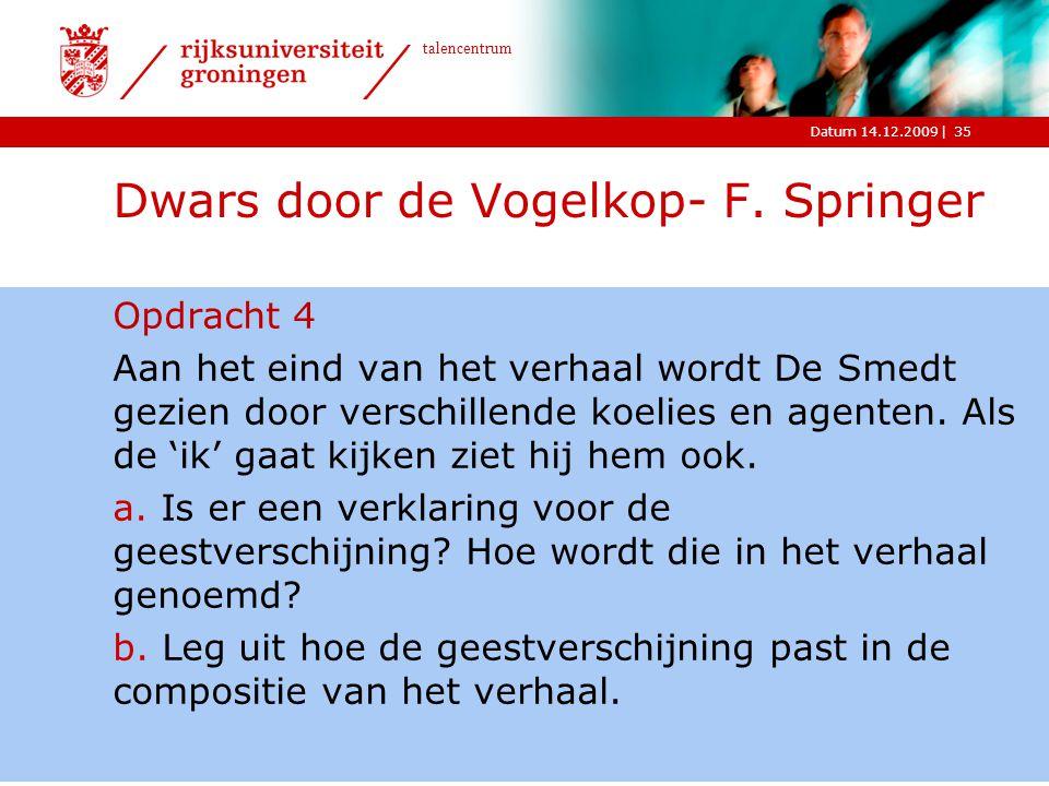 Dwars door de Vogelkop- F. Springer