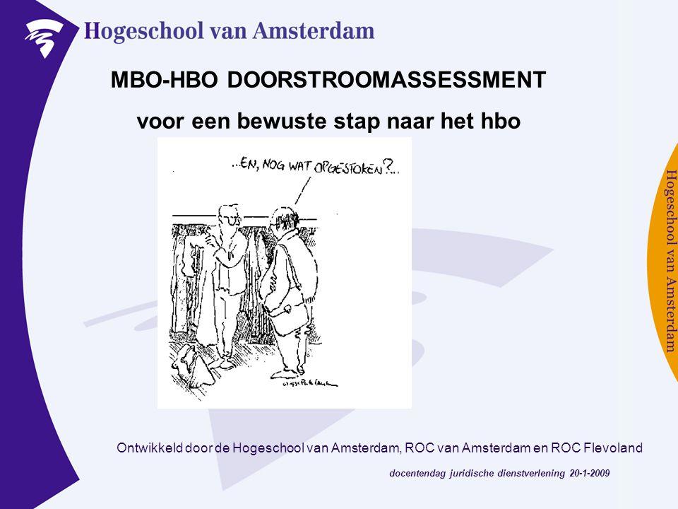 MBO-HBO DOORSTROOMASSESSMENT voor een bewuste stap naar het hbo