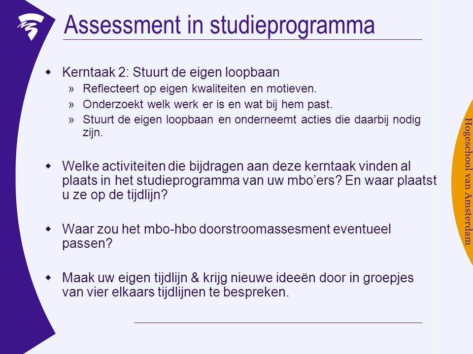 Assessment in studieprogramma