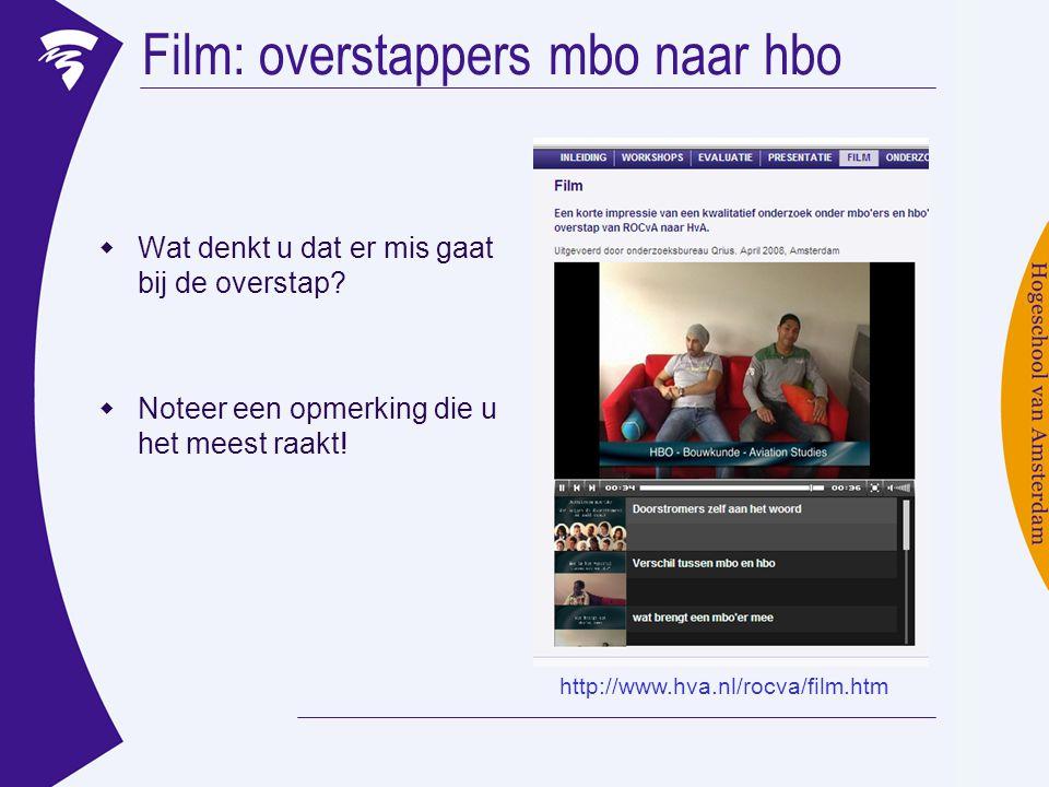 Film: overstappers mbo naar hbo