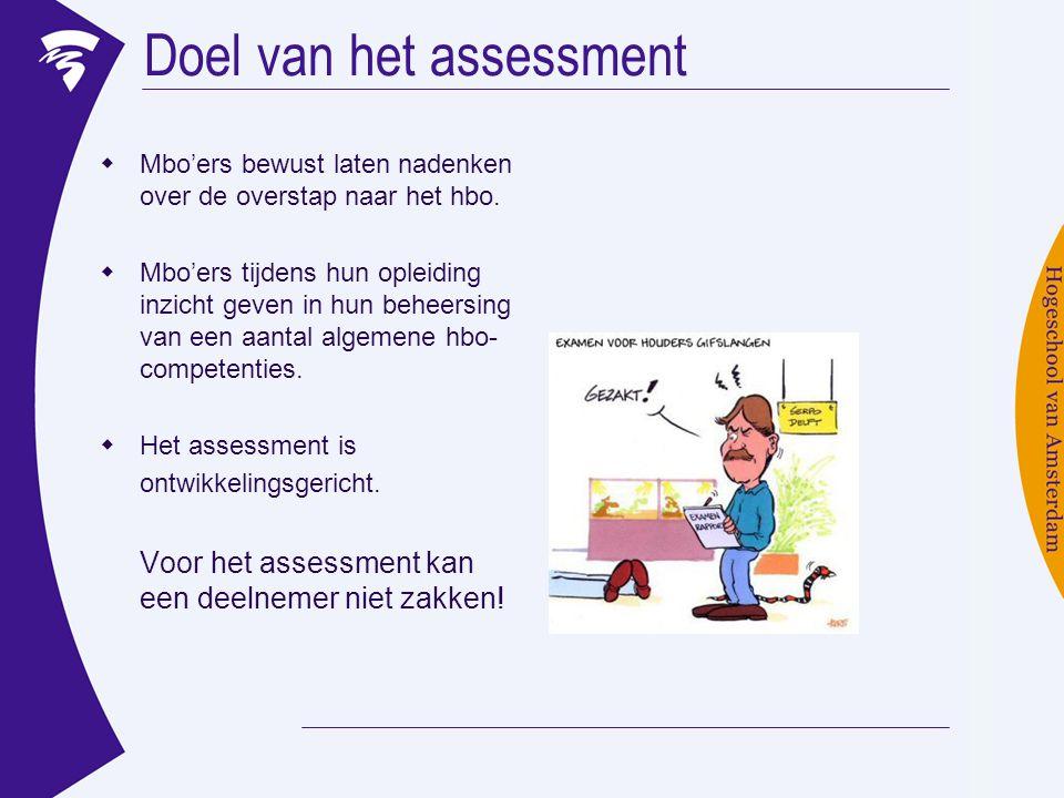Doel van het assessment