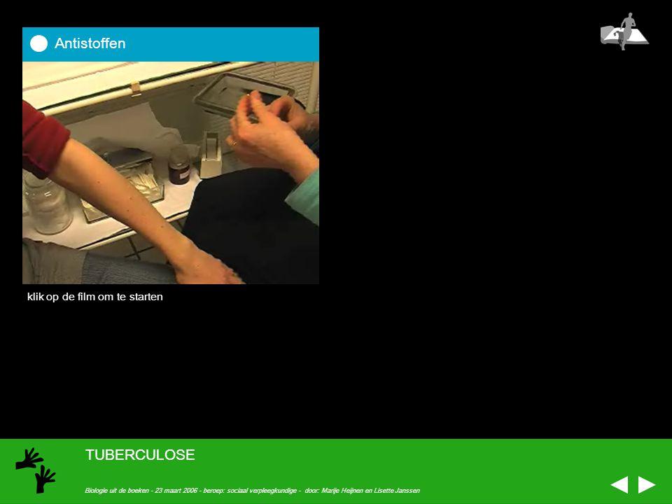 Antistoffen TUBERCULOSE klik op de film om te starten
