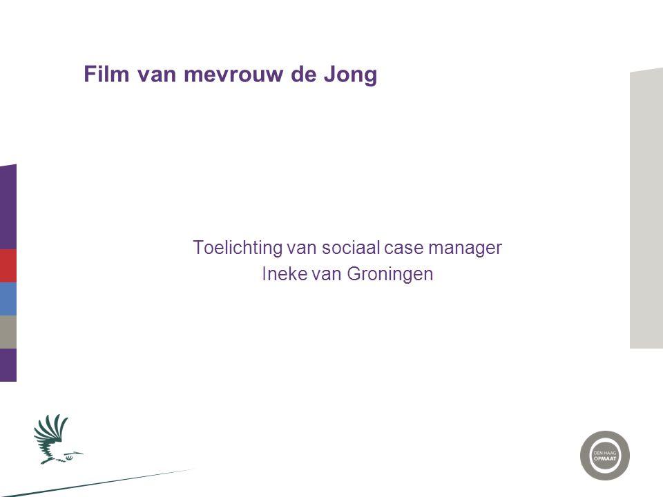 Film van mevrouw de Jong