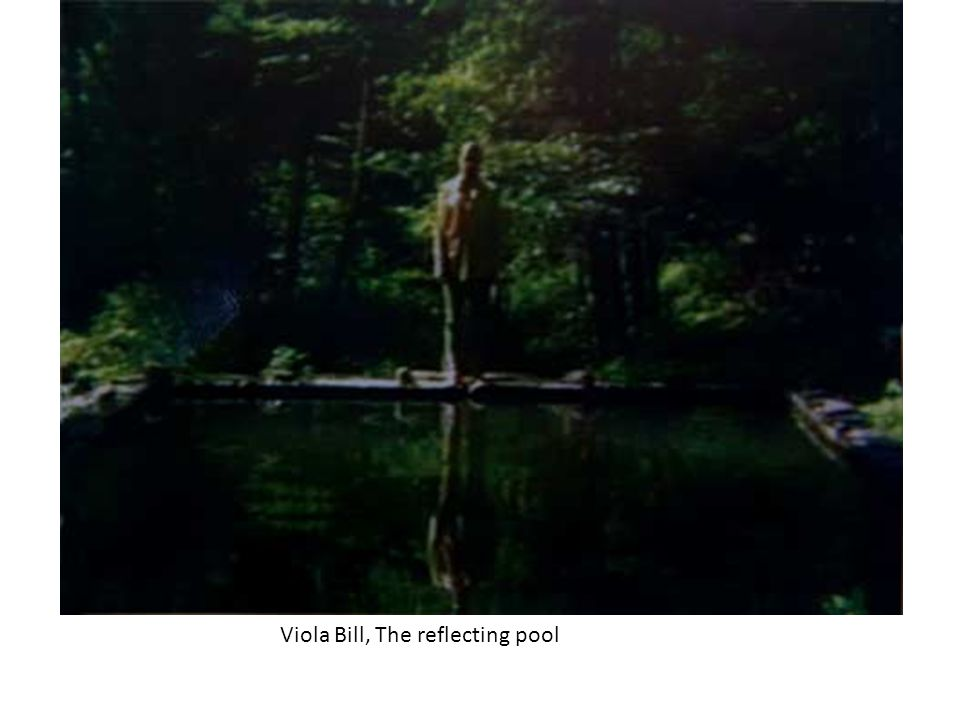 Viola Bill, The reflecting pool