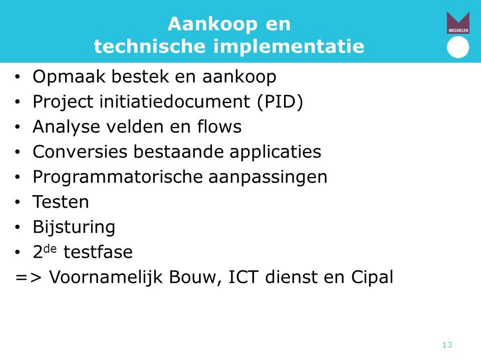 Aankoop en technische implementatie