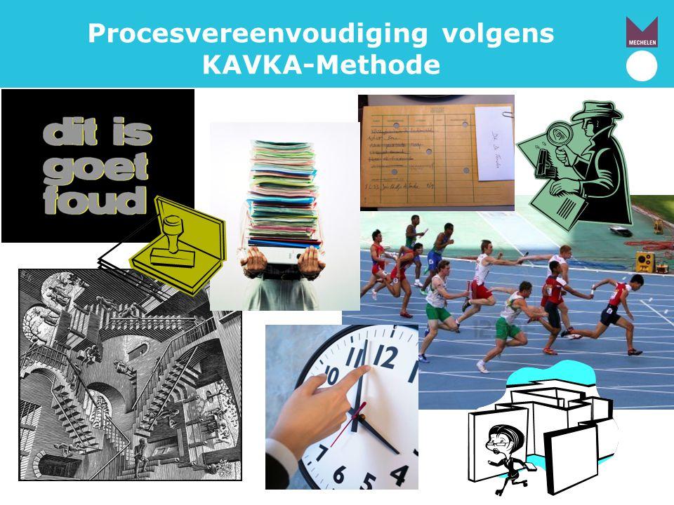 Procesvereenvoudiging volgens KAVKA-Methode
